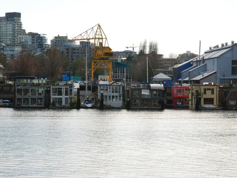 Floating houses in Vancouver.