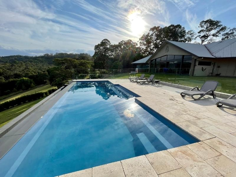 Infinity pool at Mapleton Springs B&B in the Sunshine Coast HInterland Queensland.