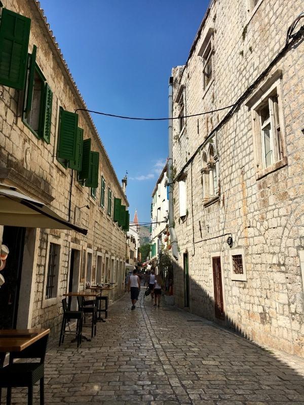 Trogir streets Croatia.
